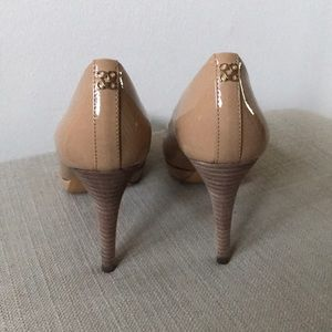 COACH nude pumps